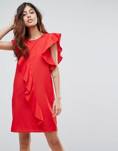 Read more about Vero moda frill asymetric dress - red