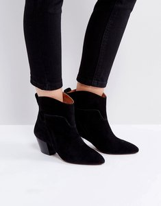 Read more about Hudson london karyn black suede mid heeled ankle boots - black suede