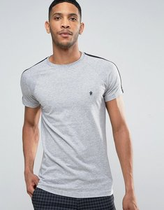 Read more about French connection long line cut and sew t-shirt - grey