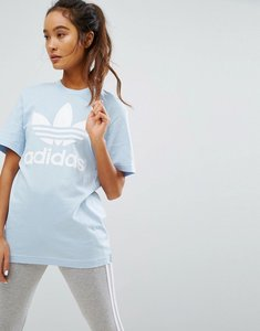 Read more about Adidas originals blue trefoil boyfriend t-shirt - easy blue s17