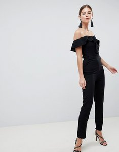 Read more about Ax paris bardot tailored jumpsuit - black