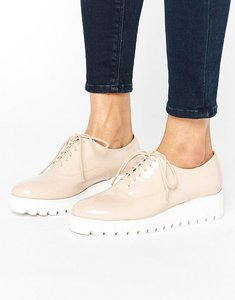 Read more about London rebel patent flatform shoe - nude patent