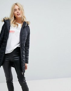 Read more about Vero moda padded parka with faux fur hood - black beauty