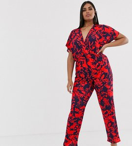 Read more about Pink clove kimono sleeve jumpsuit in bright floral