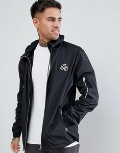 Read more about Kings will dream banard wind runner jacket in black with logo - black