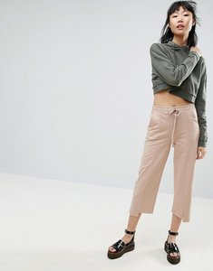Read more about Asos stepped hem wide leg joggers - caramel