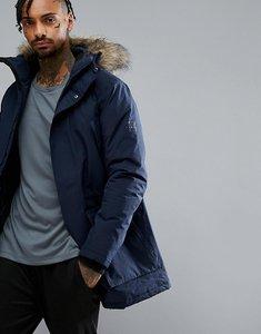 Read more about Jack jones tech arctic parka with faux fur hood - navy blazer