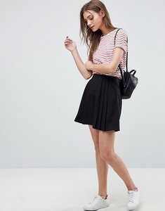 Read more about Asos tailored mini pleated skirt - black