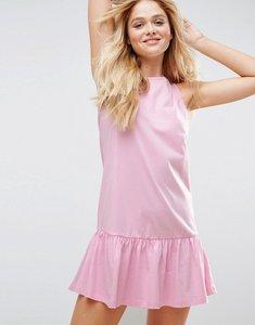 Read more about Asos dropped hem sleeveless mini smock dress - light pink