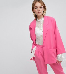Read more about Monki tailored blazer - pink