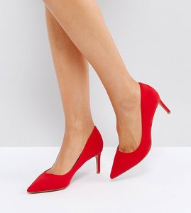 Read more about Asos soulful mid heels - red