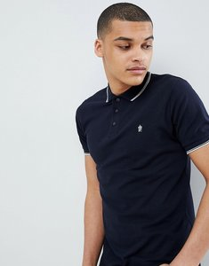 Read more about French connection tipped pique polo shirt - marine