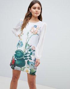 Read more about Yumi lilypad border print tunic dress - ivory
