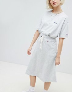 Read more about Champion drawstring midi skirt with side logo - grey
