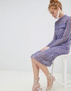 Read more about Soaked in luxury floral midi dress - violet tulip