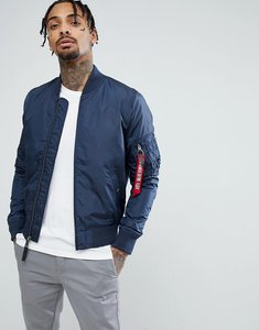 Read more about Alpha industries ma1-tt bomber jacket slim fit in navy - rep blue