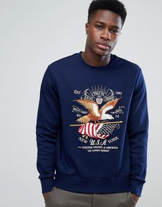 Read more about Polo ralph lauren embroidered crest logo sweat in navy - navy