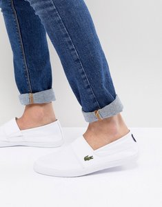 Read more about Lacoste marice plimsolls in white - white