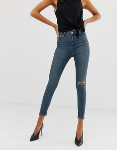01097facf4186d From G-star. NEW IN. Read more about Asos design ridley high waisted skinny  jeans in aged vintage mid wash with