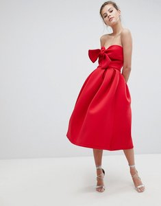 Read more about True violet bandeau skater dress with bow detail - red