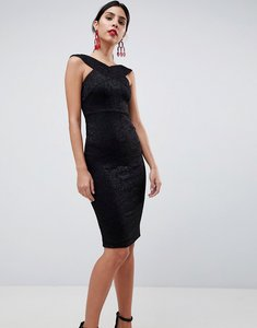 Read more about Ax paris cross front pencil dress - black