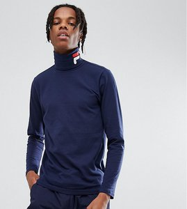 Read more about Fila black line ski long sleeve t-shirt with logo roll neck in navy - navy