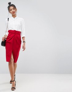 Read more about Asos belted pencil skirt - red
