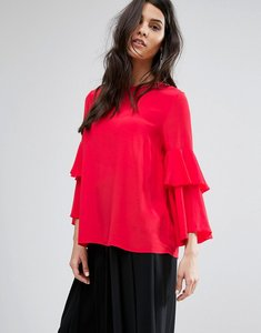 Read more about Y a s button back blouse - red