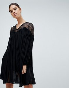 Read more about French connection lassia drape dress with lace inserts - black