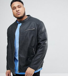 Read more about Replika plus faux leather biker jacket - 0099