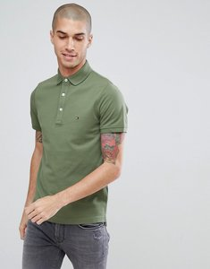 Read more about Tommy hilfiger modern slim fit flag logo polo in green - four leaf clover
