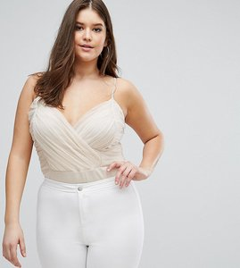 Read more about Asos curve cami body with corset detail - nude pink