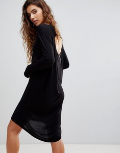 Read more about Cheap monday ban long sleeved shift dress - black