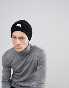 Read more about Esprit oversized beanie in black wool blend - 001
