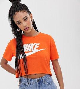 Read more about Nike swoosh logo t-shirt in orange - orange