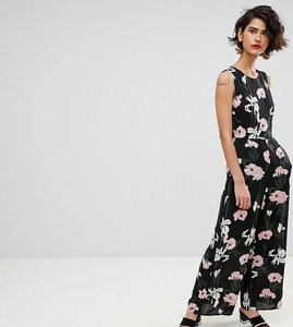 Read more about Warehouse tiger lily sleeveless wide leg jumpsuit - black
