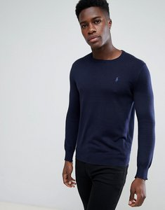 Read more about Polo ralph lauren pima cotton knit jumper crew neck polo player in navy - navy