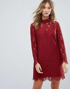 Read more about Deby debo dorothy lace high neck dress - orange