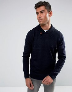 Read more about French connection lamb shawl collar jumper - navy