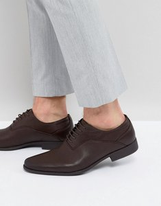 Read more about Asos oxford shoes in brown faux leather with emboss detail - brown