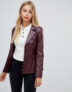 Read more about Emory park tailored jacket in faux leather - wine