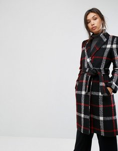 Read more about Gianni feraud check duster coat - blk red check