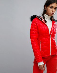 Read more about Dare2be endow padded ski jacket with fur hood - white