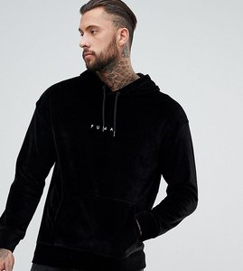 Read more about Puma velvet pullover hoodie in black exclusive to asos - black