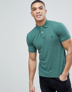 Read more about Polo ralph lauren slim fit pique polo in green - green