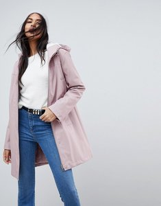 Read more about Asos premium borg raincoat - pink