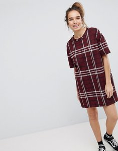 Read more about Pull bear check tunic dress - red