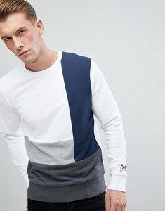 Read more about Jack jones originals colour block sweatshirt - white