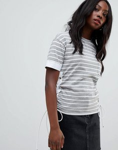 Read more about Glamorous stripe t-shirt - grey white stripe