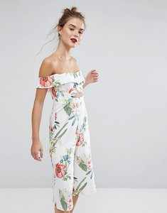 Read more about New look floral printed culotte jumpsuit - white pattern